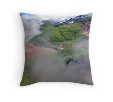 Valley of the Geysers Throw Pillow