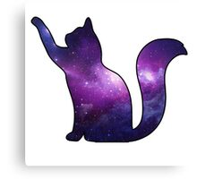 Galaxy Cat Playing Canvas Print