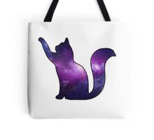Galaxy Cat Playing Tote Bag