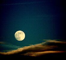 Christmas Eve Full Moon-daytime glimpse by TNRidrnr