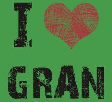 I Love Gran Baby Tee