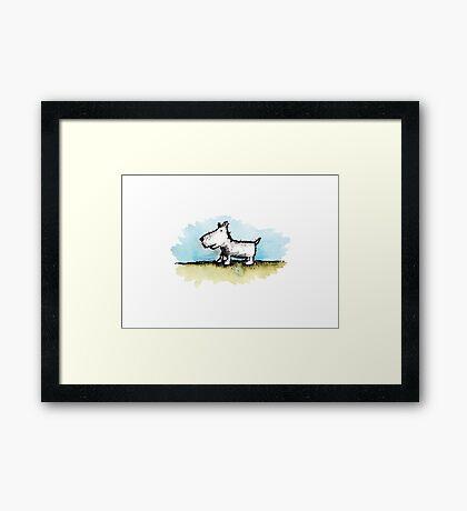 Moonah Dog Framed Print