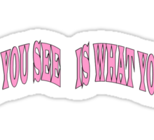 WHAT YOU SEE Sticker