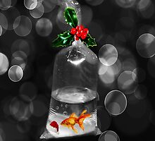 <º))))><BUBBLES GOLDFISH HOLIDAY PILLOW AND OR TOTE BAG WISHING U A BUBBLY HOLIDAY><((((º> by ✿✿ Bonita ✿✿ ђєℓℓσ