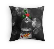 <º))))><BUBBLES GOLDFISH HOLIDAY PILLOW AND OR TOTE BAG WISHING U A BUBBLY HOLIDAY><((((º> Throw Pillow