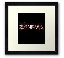 Zombie Raid Framed Print