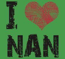 I Love Nan Baby Tee