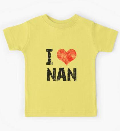 I Love Nan Kids Tee