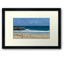 Cottesloe Beach in winter Framed Print