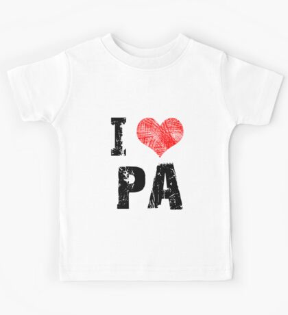 I Love Pa Kids Tee
