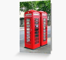 Phone Booths Greeting Card
