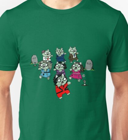 Zombie Thriller Cats Unisex T-Shirt