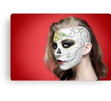 Natalie Dormer Dia de Los Muertos Day of the Dead MakeUp Canvas Print