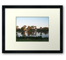 Sunset on the Mary River - Resting Boats Framed Print