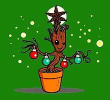 Groot Christmas by LisaAlba