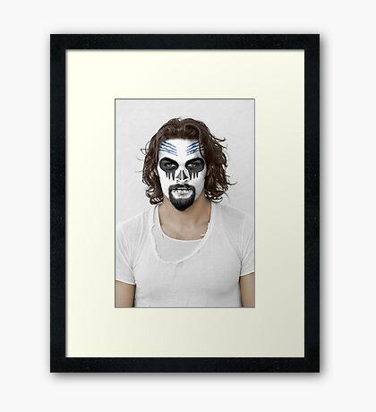 Jason Momoa Day of the Dead Dia de los Muertos Makeup Framed Print