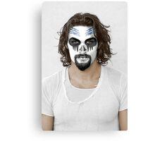 Jason Momoa Day of the Dead Dia de los Muertos Makeup Canvas Print