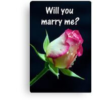"""Will You Marry me?"" Canvas Print"