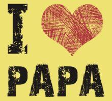 I Love Papa Kids Tee
