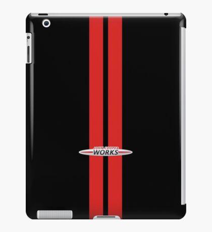 Mini Cooper Stripes JCW - Black & Red iPad Case/Skin