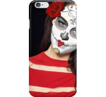 Emilia Clarke Day of the Dead Dia de los Muertos Makeup iPhone Case/Skin