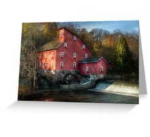The old mill in Clinton, NJ Greeting Card