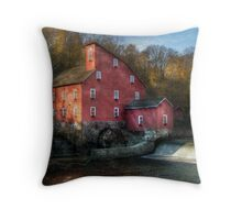 The old mill in Clinton, NJ Throw Pillow