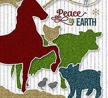 Barnyard Animals | Peace on Earth | Christmas by Doreen Erhardt