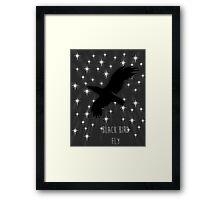 Black Bird Fly ~ Simplistic Design Framed Print