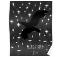 Black Bird Fly ~ Simplistic Design Poster