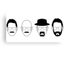 The transformation of Walter White. Canvas Print