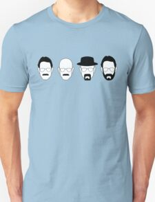 The transformation of Walter White. Unisex T-Shirt