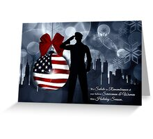 Christmas Military - American Flag Greeting Card