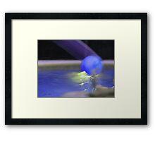 The Blue Ball Framed Print