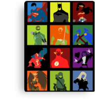 DC Comics Justice Leage Silhouettes Canvas Print