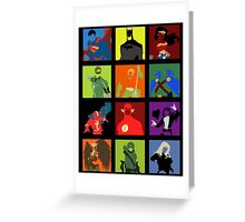 DC Comics Justice Leage Silhouettes Greeting Card