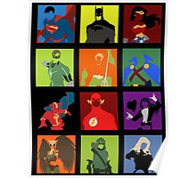 DC Comics Justice Leage Silhouettes Poster