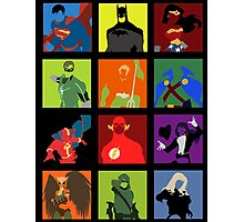 DC Comics Justice Leage Silhouettes Photographic Print