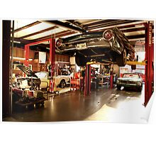 in the mustang shop Poster
