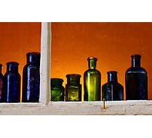 Antique Bottles Photographic Print