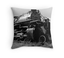 Logging Train Throw Pillow