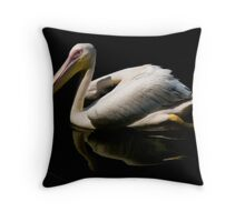 Gliding On Ink Throw Pillow