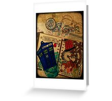 Doctor Who Travel Log  Greeting Card