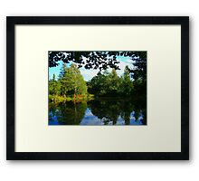 Lawns Woods Lake  Framed Print