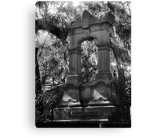 Towering gravestone Canvas Print