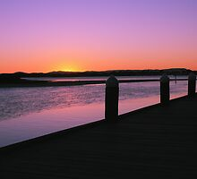 Sunset Pier by Joel  Haldane