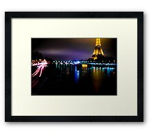 At night it's different world Framed Print