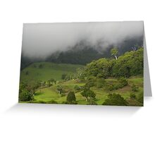 Valley Mist Greeting Card