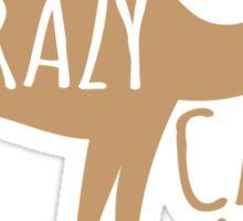 Crazy CAMEL lady Sticker