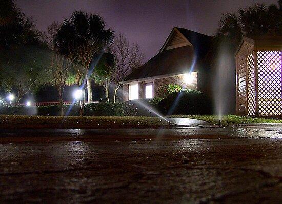 Sprinklers at Night by Matt Ferrell